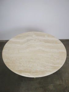 ROUND TRAVERTIN DINING TABLE