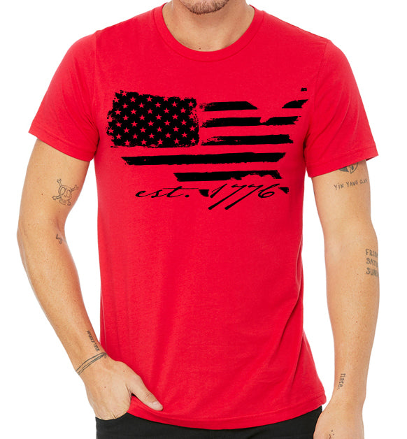 EST 1776 T-Shirt Red