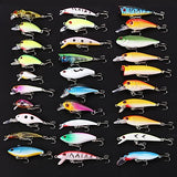 30 pcs Lures Swimbaits Hard Baits Jerkbaits Minnow Crank Pencil Popper Vibration / VIB Hard Plastic Floating Sinking
