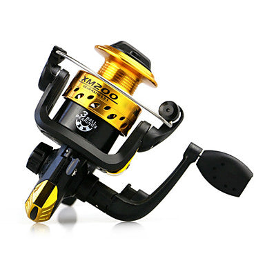 Fishing Reel Spinning Reel 5.1:1 Gear Ratio+3 Ball Bearings Hand Orientation Exchangable Bait Casting / Ice Fishing / Spinning - AK200 / Freshwater Fishing / Carp Fishing / General Fishing