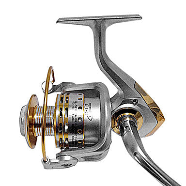 Fishing Reel Spinning Reel 4.7:1 Gear Ratio+12 Ball Bearings Right-handed / Left-handed / Hand Orientation Exchangable Sea Fishing / Bait Casting / Freshwater Fishing - GF7000
