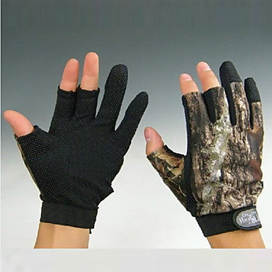 Gloves Fishing Gloves Fingerless Gloves Bait Casting Windproof Anti-Slip Wearproof Cloth Nylon Spring Summer Fall Unisex