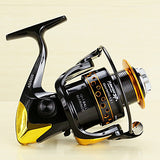 Fishing Reel Spinning Reel 5.2/1 Gear Ratio+13 Ball Bearings Hand Orientation Exchangable Spinning / Lure Fishing - AD2000-5000