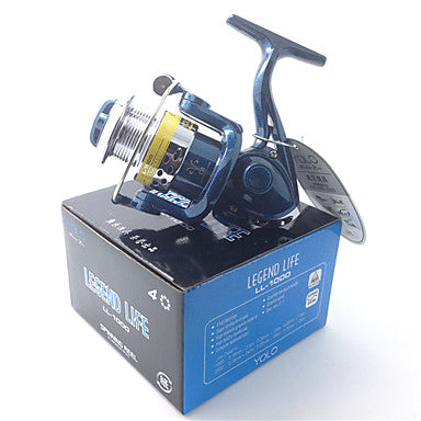 Fishing Reel Spinning Reel 5.1:1 Gear Ratio+4 Ball Bearings Hand Orientation Exchangable Bait Casting / Ice Fishing / Spinning - LL1000 / Freshwater Fishing / Carp Fishing / General Fishing