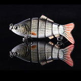 10m 20G Lifelike 6 Jointed Sections Swimbait Fishing Lure