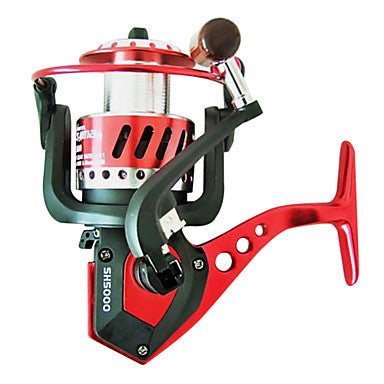 Fishing Reel Spinning Reel 5.0:1(SH1000/2000), 4.9:1(SH3000/4000), 5.5:1(SH5000/6000) Gear Ratio+9 Ball Bearings Hand Orientation Exchangable Sea Fishing / Bait Casting / Freshwater Fishing