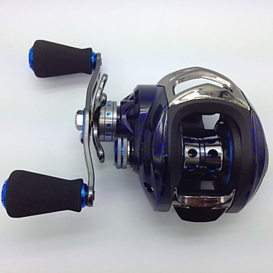 Fishing Reel Baitcasting Reel 6.3:1 Gear Ratio+14 Ball Bearings Left-handed Bait Casting / Freshwater Fishing / Lure Fishing - KW150 R