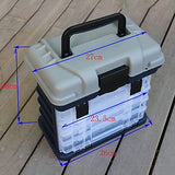 Fishing Tackle Box Seat Box 4 Trays A Grade ABS 27 cm*18 inch*17 cm