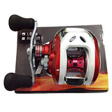 Super Casting Low Profile Baitcasting Fishing Reel Red