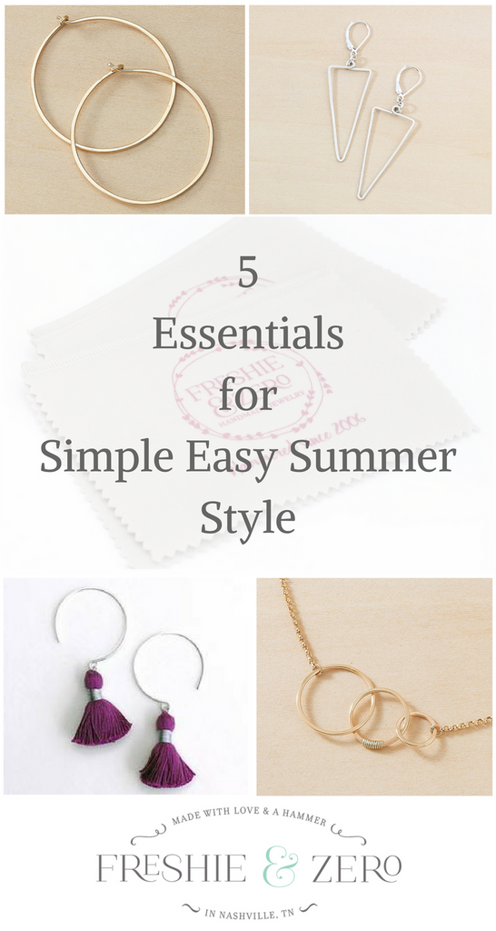 5 essentials for simple easy summer style, freshie and zero blog