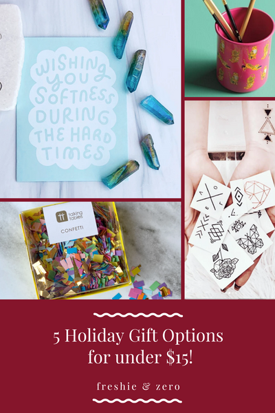 Gift options under $15