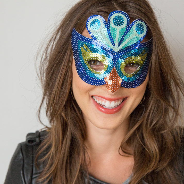 3 Last Minute Halloween Ideas Peacock Mask