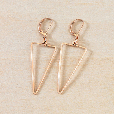 apex earrings rose gold, freshie and zero