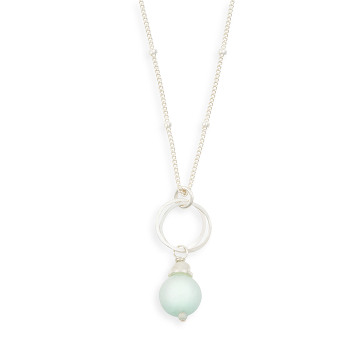 Audrey necklace in sea glass jade