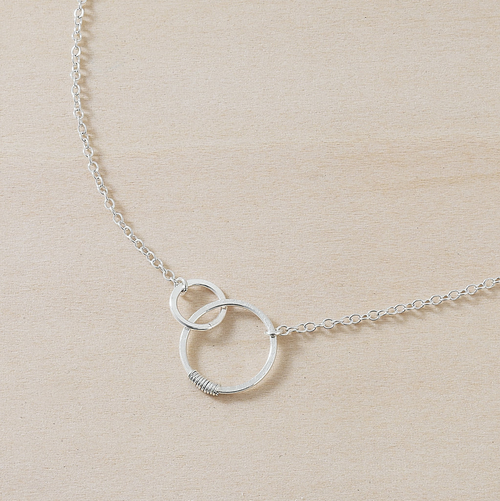 sterling silver favor sisters necklace, freshie and zero, back to school style