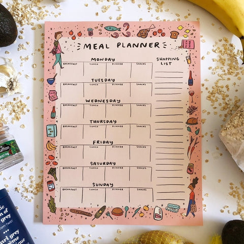 Meal Planner Illustrated Notepad
