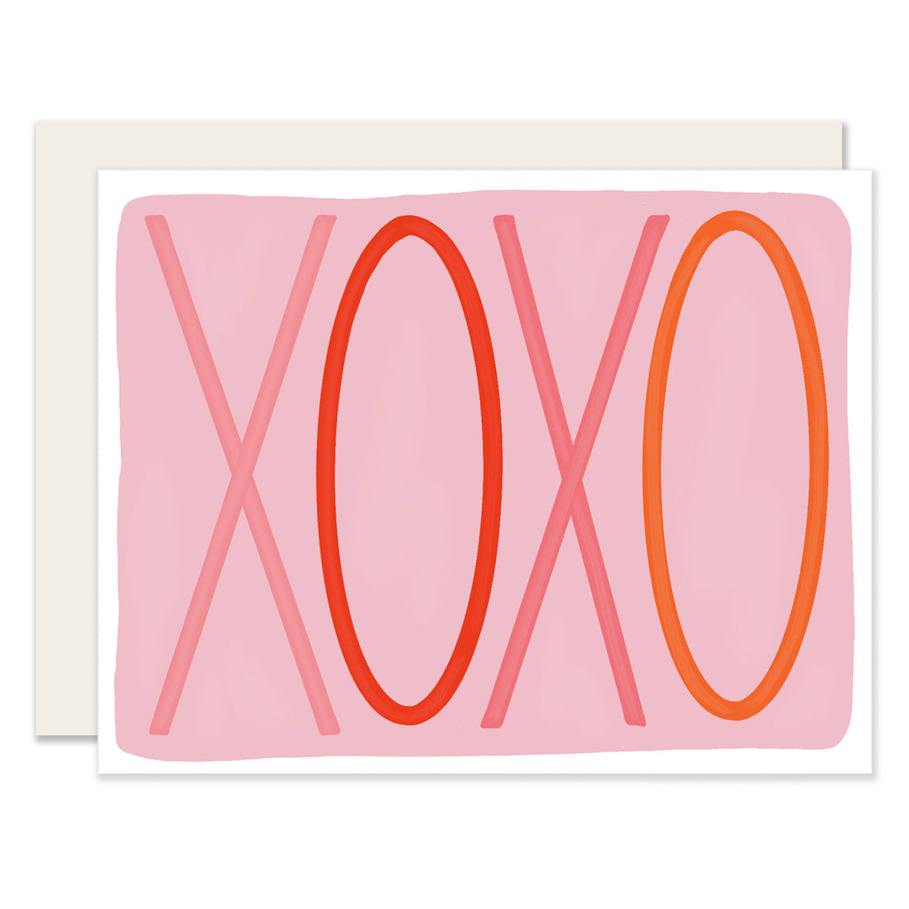 Colorful XOXO Valentine Card - Freshie & Zero Studio Shop