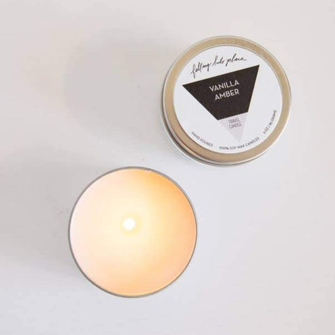 Travel Candle Vanilla Amber