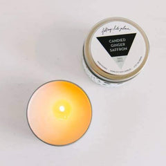Travel Candle Candied Ginger Saffron - Freshie & Zero | artisan handmade hammered jewelry | handmade in Nashville, TN