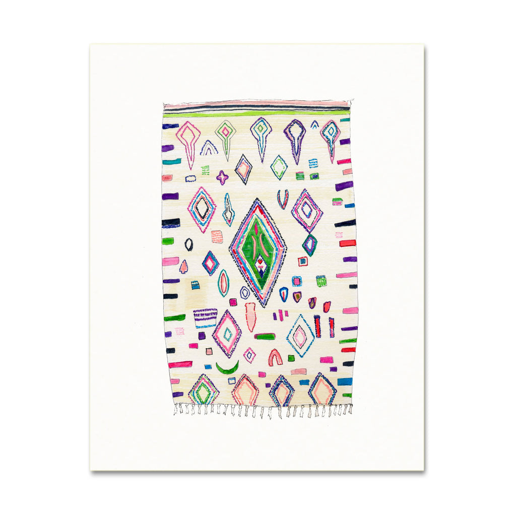 Snoogs & Wilde 5x7 Art Print - Rug No.15 - Freshie & Zero Studio Shop