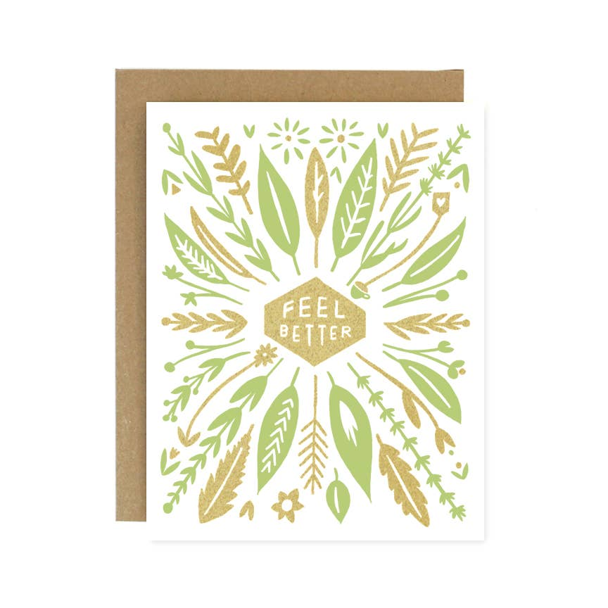 Worthwhile Paper - Feel Better Nature Card - Freshie & Zero | artisan handmade hammered jewelry | handmade in Nashville, TN