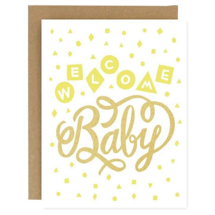 Welcome Baby Card - Freshie & Zero | artisan handmade hammered jewelry | handmade in Nashville, TN