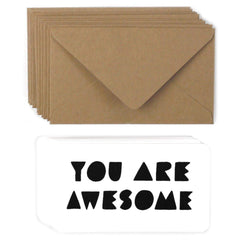 You Are Awesome Mini Note Set - Freshie & Zero