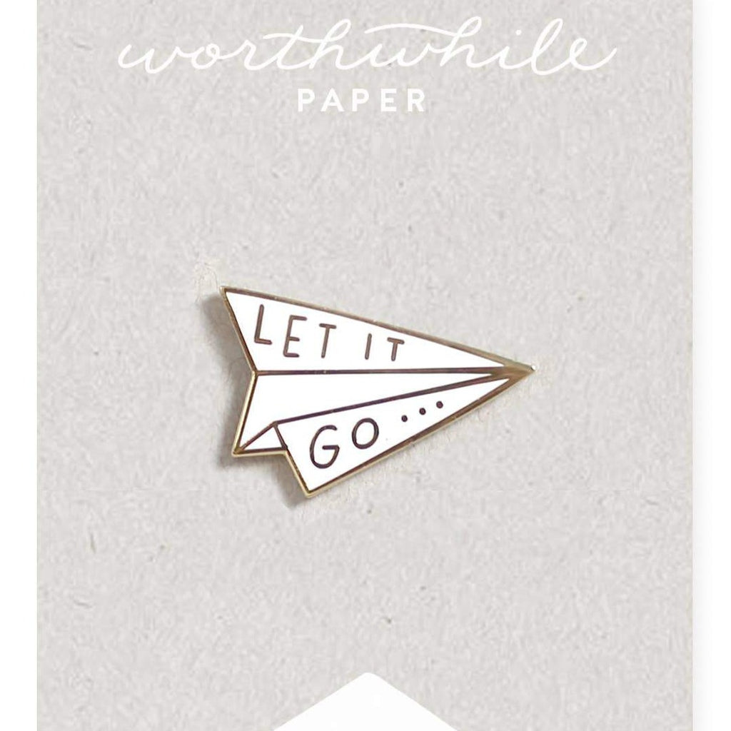Worthwhile Paper - Let It Go Enamel Pin