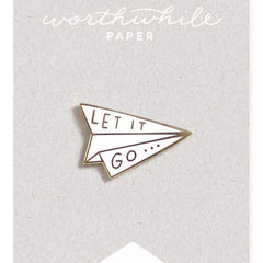 Let It Go Enamel Pin by Worthwhile Paper - Freshie & Zero