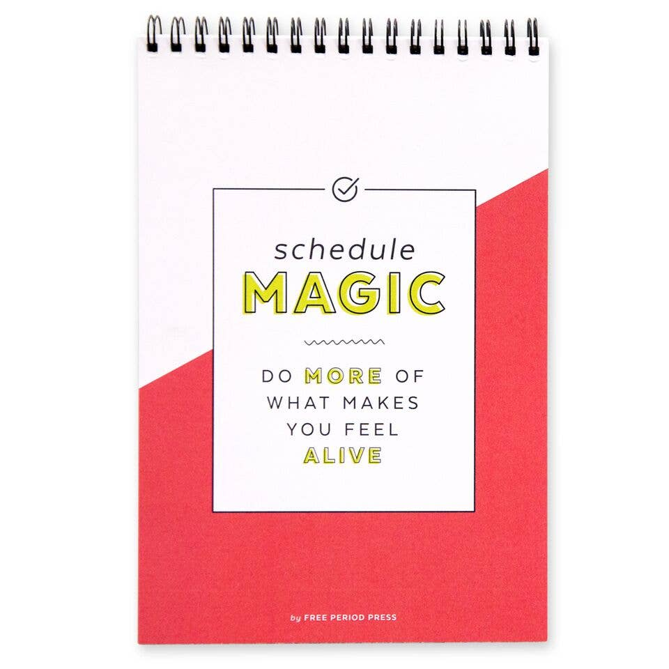 Daily Schedule Magic Spiral Notebook - Freshie & Zero Studio Shop