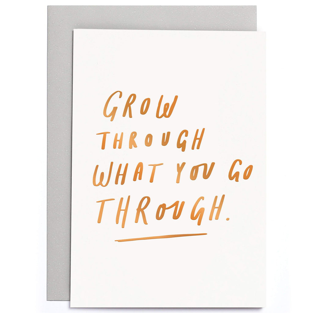 Grow Through What you Go Through Small Card - Freshie & Zero | artisan handmade hammered jewelry | handmade in Nashville, TN