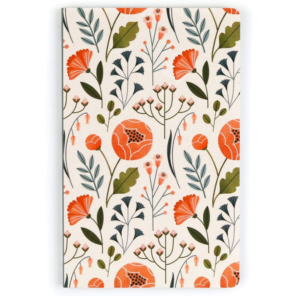 Flowers Layflat Lined Journal - Freshie & Zero