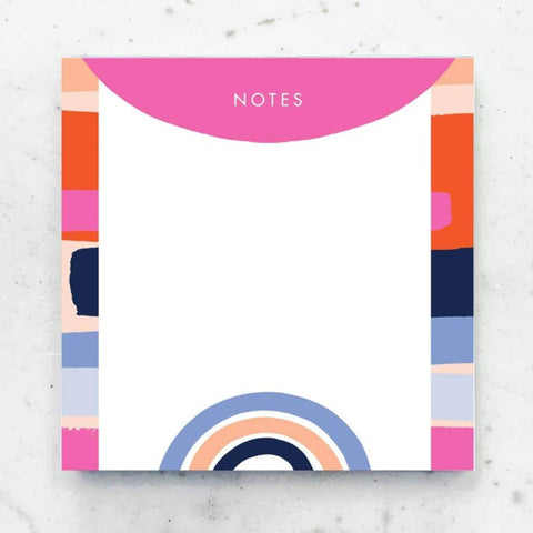Chunky Color Block Neon Notepad