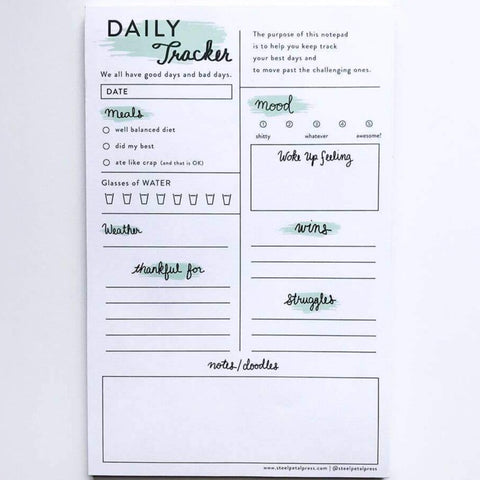 Tracker Notepad: Daily Well Being