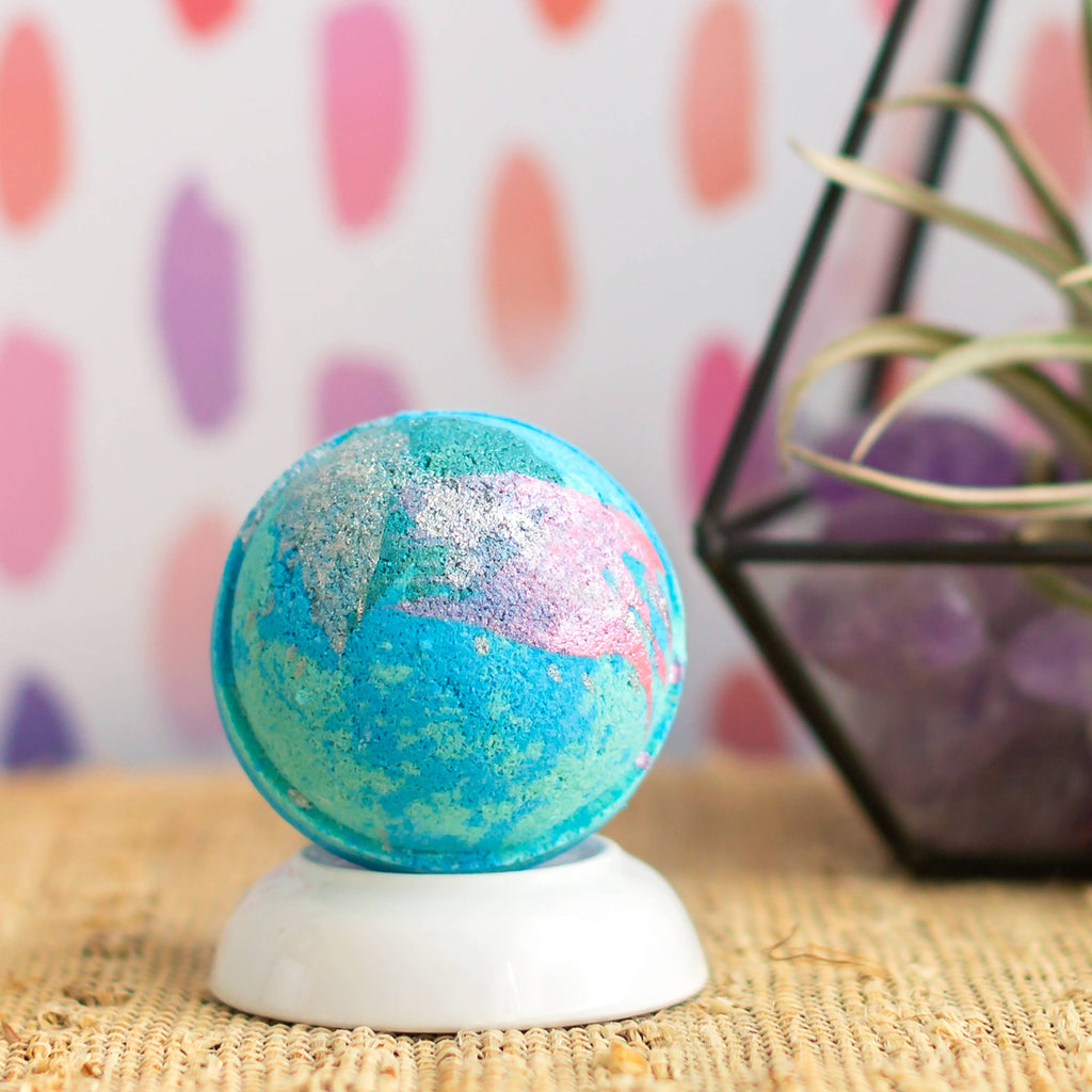 Bath Bomb - Mermaid Kiss - Freshie & Zero | artisan handmade hammered jewelry | handmade in Nashville, TN
