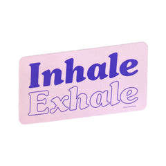 Inhale Exhale Sticker - Freshie & Zero Studio Shop