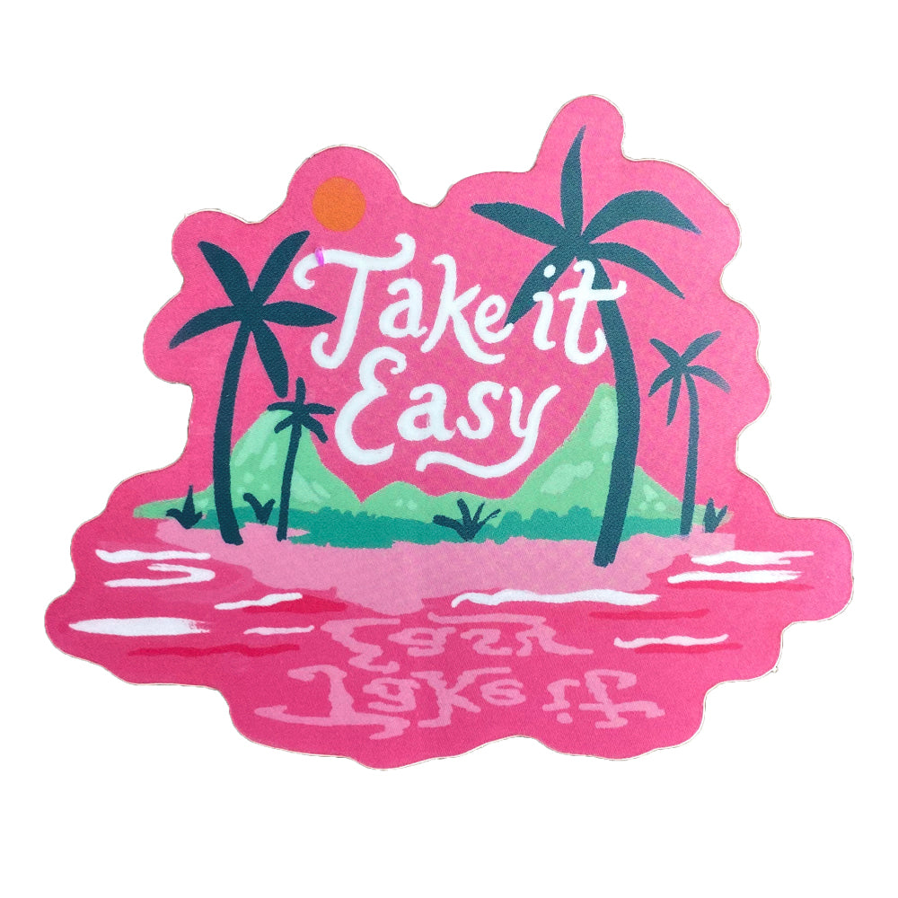 Take It Easy Island Sticker by Idlewild - Freshie & Zero