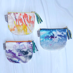 Hand Dyed Small Zipper Pouch by Aubrey Hyde