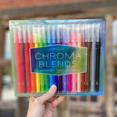 Chroma Blends set of 18 Watercolor Brush Markers by Ooly - Freshie & Zero Studio Shop