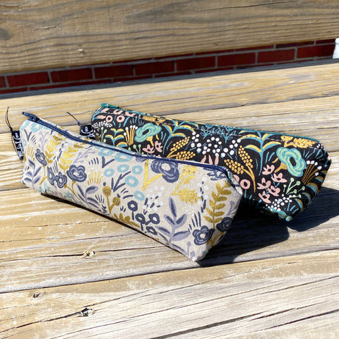 Pencil Pouch in Gold Rifle Paper Fabric