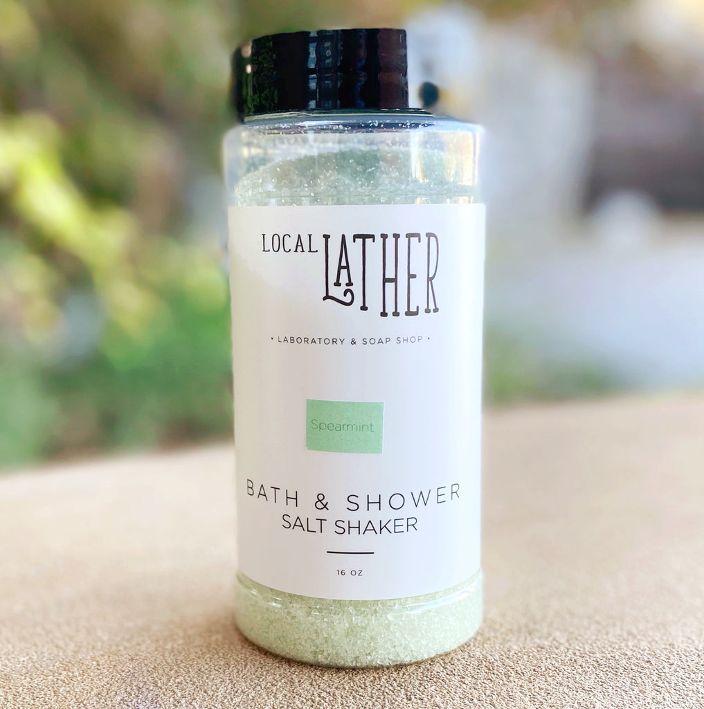 Bath & Shower Salt Shaker - Spearmint - Freshie & Zero Studio Shop