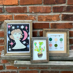 "8"" x 8"" Reclaimed Wood Gallery Frame - Freshie & Zero Studio Shop"