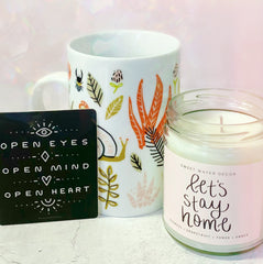 Let's Stay Home Soy Candle - Freshie & Zero