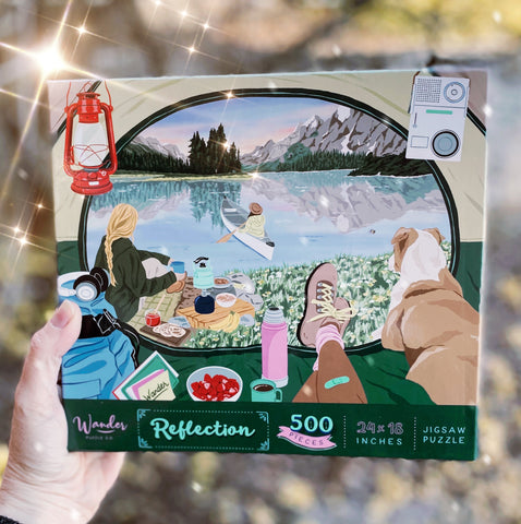 Reflection Camping Jigsaw Puzzle - 500 pieces