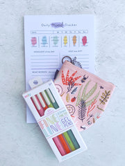 Fine Lines Gel pens by Ooly - Set of 6 Bright Colors - Freshie & Zero Studio Shop