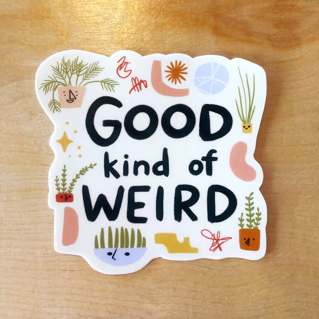 Good Kind of Weird Vinyl Sticker - Freshie & Zero