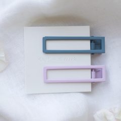 Lu Lu Hair Clips In Lilac + Blue - Freshie & Zero Studio Shop