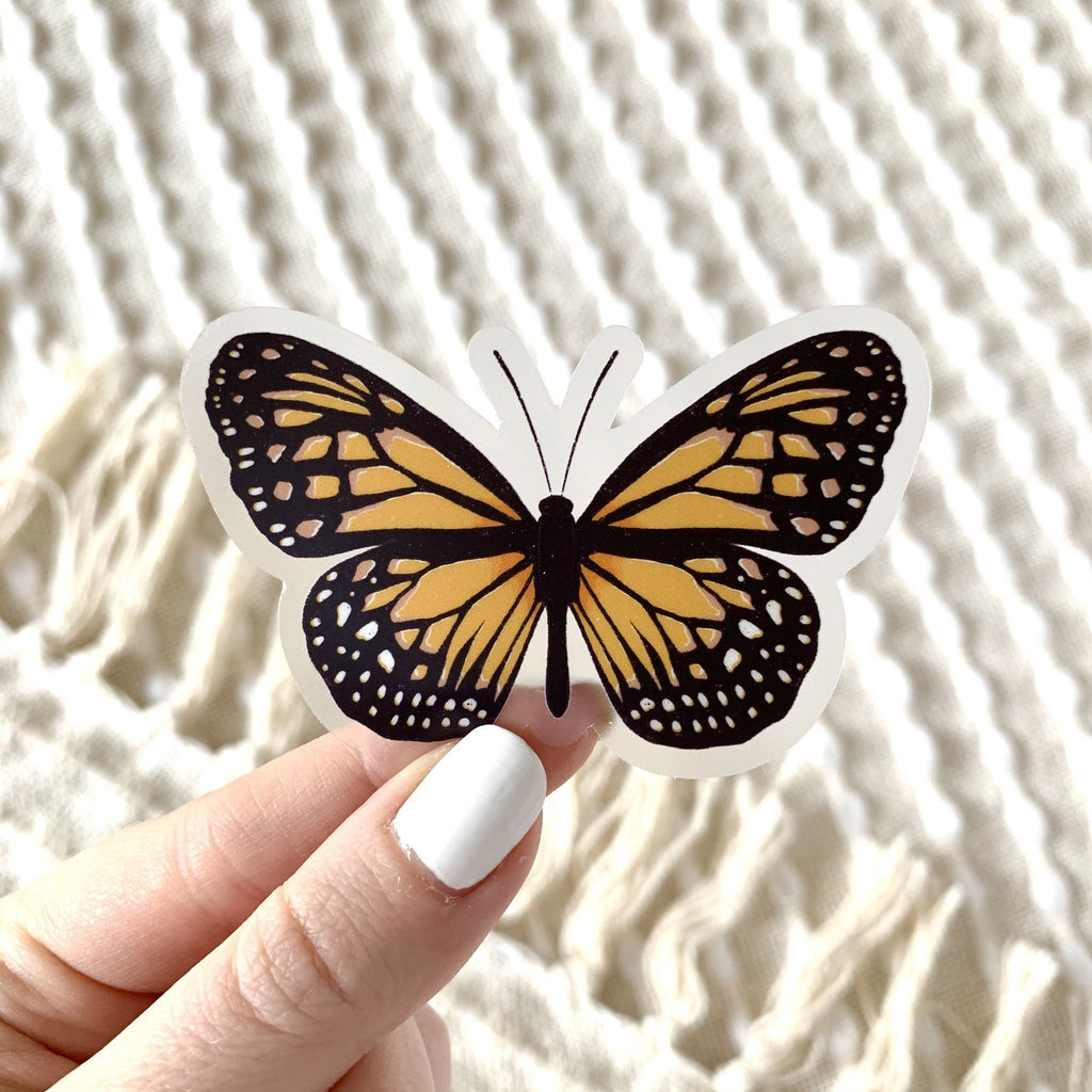 Clear Painted Lady Butterfly Sticker - Freshie & Zero