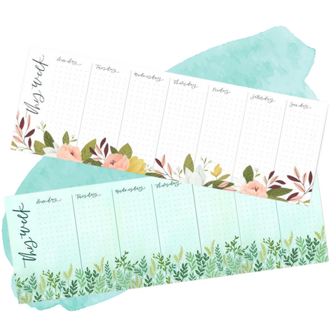 Weekly Notepads by 1canoe2