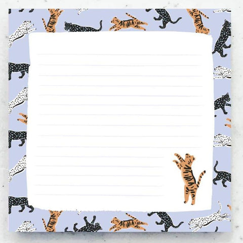 Wild Cats Chunky Notepad